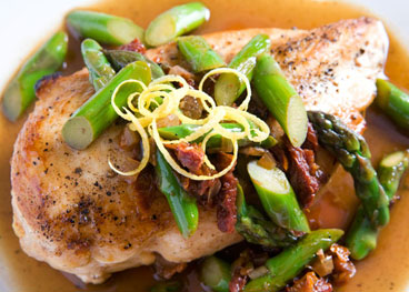 Chicken Asparagus Closeup