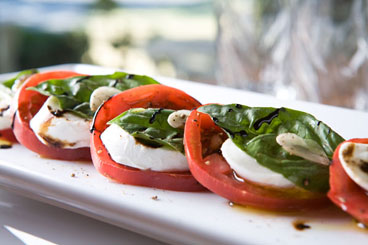 Heirloom Caprese With Balsamic Syrup